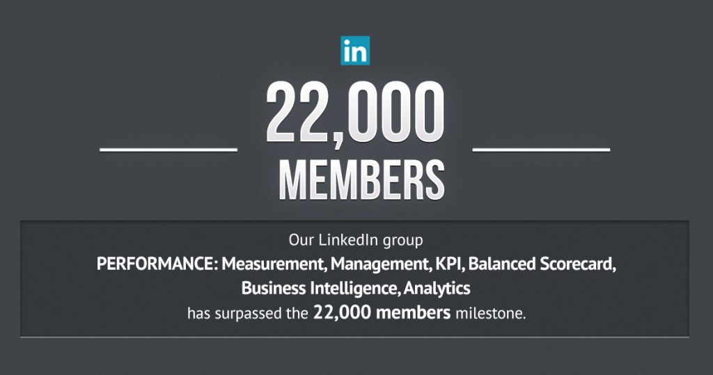 The KPI Institute`s LinkedIn community has reached 22,000