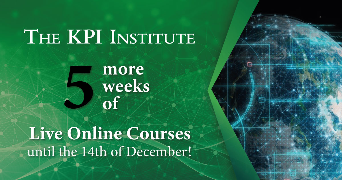 the kpi institute live online courses